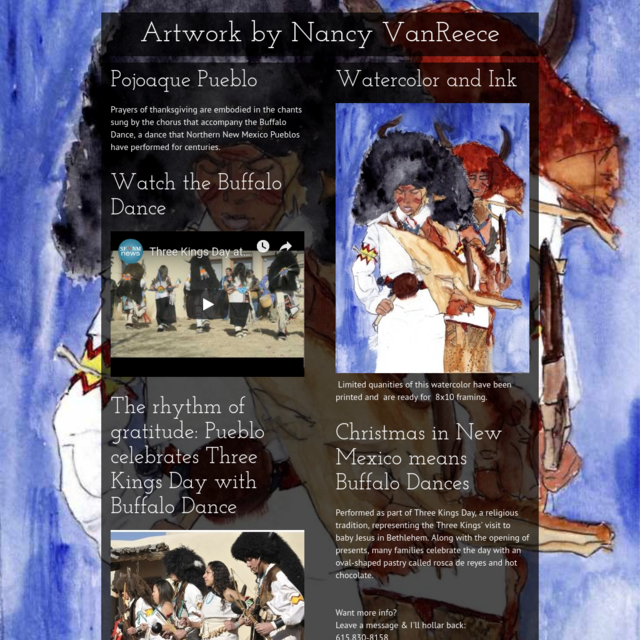 Artwork by Nancy VanReece - Buffalo Dancers