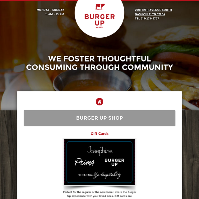 Burger Up Products