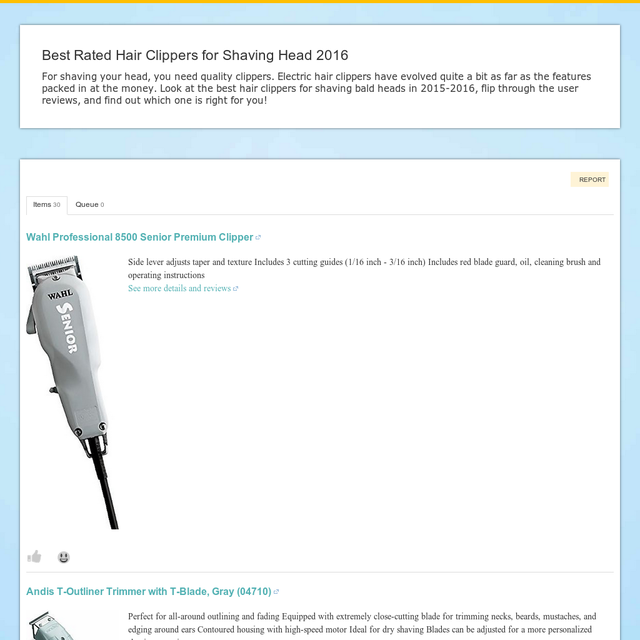Best Rated Hair Clippers For Shaving Head 2016