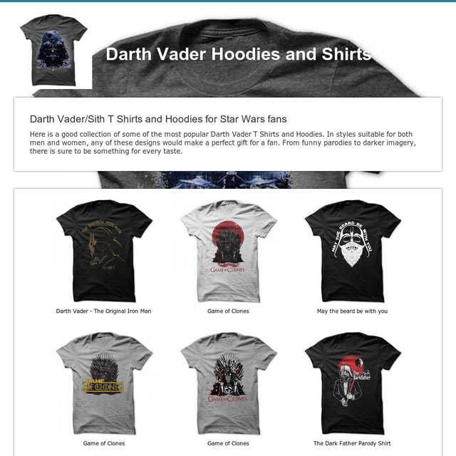 Darth Vader Hoodies and Shirts
