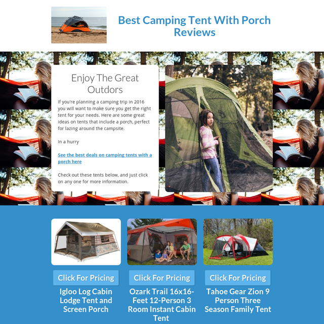 Best Camping Tent With Porch Reviews 2016
