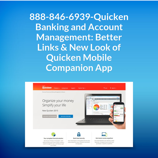 888-846-6939-Quicken Banking and Account Management: Better Links