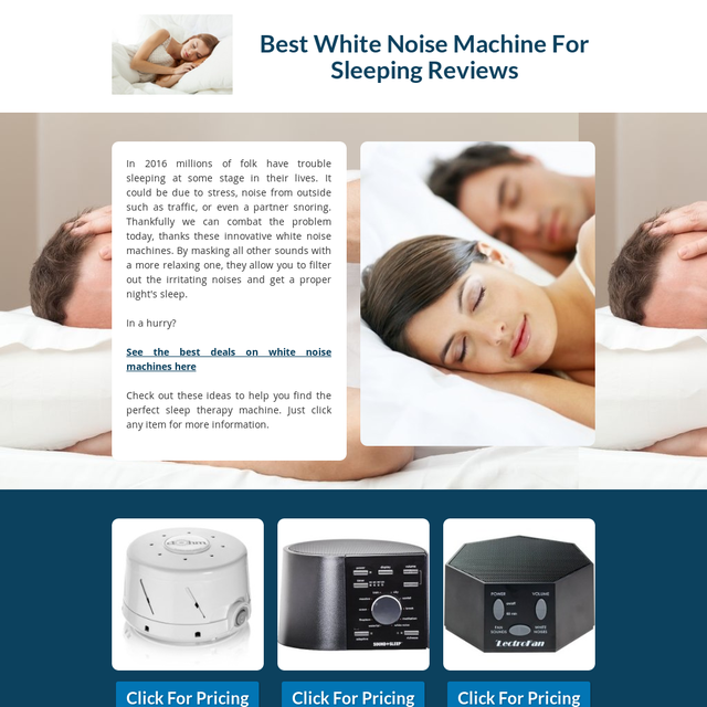 sleeping white noise machine