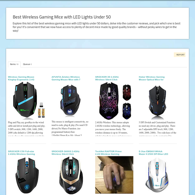 Best Wireless Gaming Mice With LED Lights Under 50