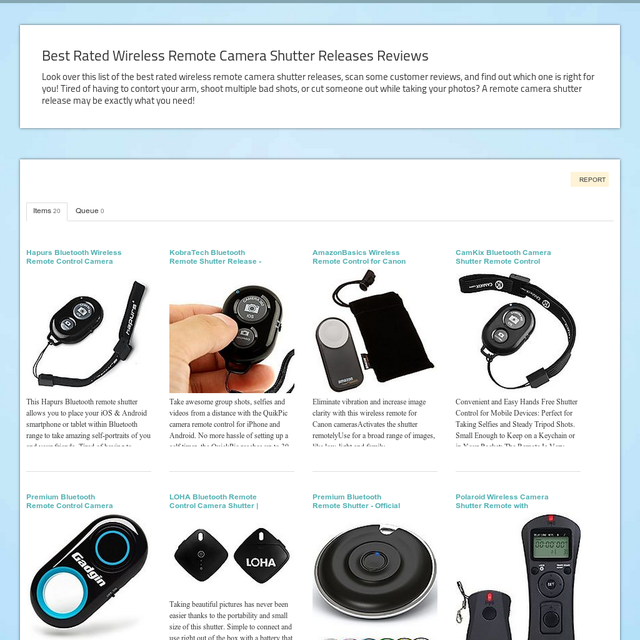 Best Rated Wireless Remote Camera Shutter Releases Reviews