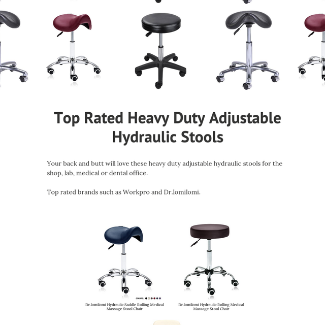 Top Rated Heavy Duty Adjustable Hydraulic Stools
