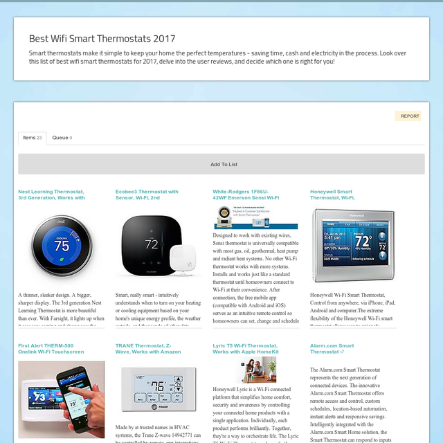 Best Wifi Smart Thermostats 2017 Storify