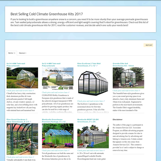 Best Selling Cold Climate Greenhouse Kits 2017