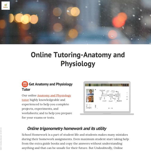 Online Tutoring Anatomy And Physiology