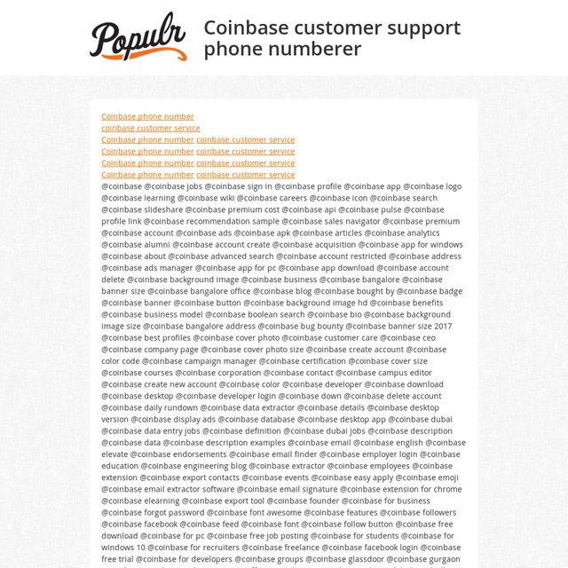 Coinbase customer support phone numberer