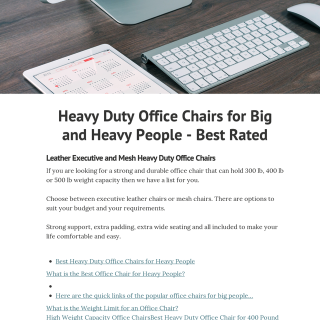 Heavy Duty Office Chairs For And