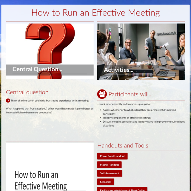 components of an effective meeting