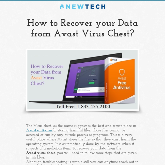 avast recover file from chest