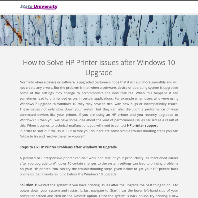 How to Solve HP Printer Issues after Windows 10 Upgrade