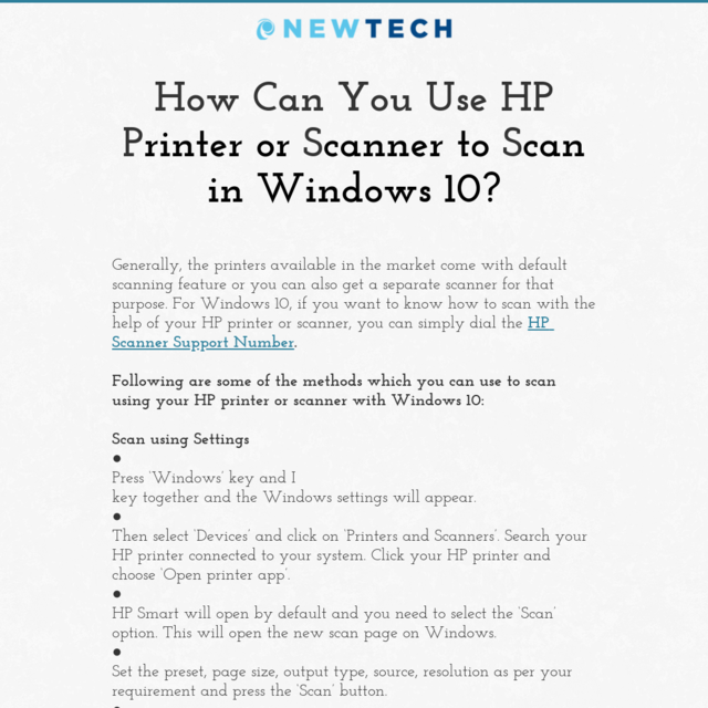 How Can You Use HP Printer or Scanner to Scan in Windows 10?