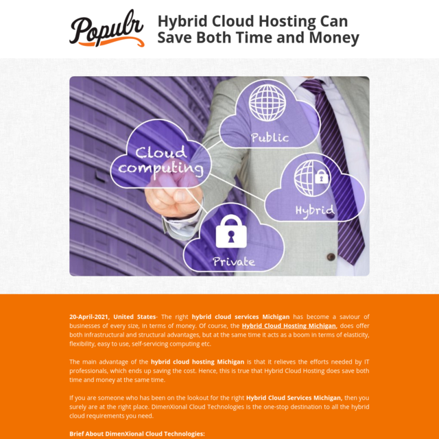 Hybrid Cloud Hosting Can Save Both Time and Money