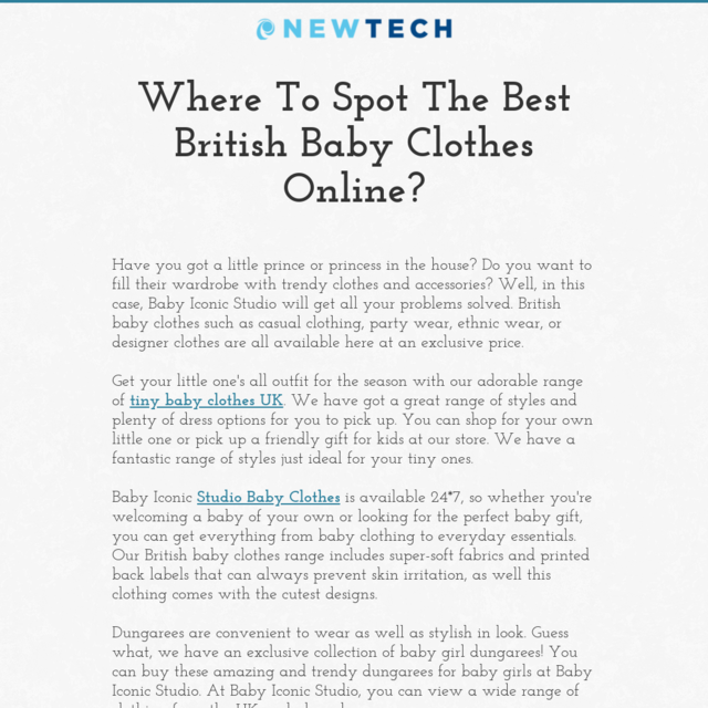 Where To Spot The Best British Baby Clothes Online?
